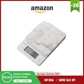 Cân nhà bếp Tanita KJ-114 SWH Cooking Digital 2,2 lbs (1 kg), gia số 0,5 g, Đá trắng