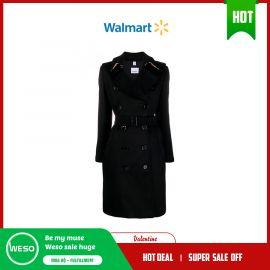 Áo khoác nữ Kensington thắt dây màu đen  Burberry