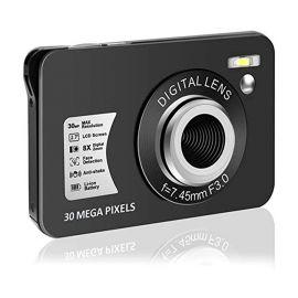 Máy ảnh kỹ thuật số HD 1080P: Máy ảnh vlogging | Máy ảnh mini 30 MP | Máy ảnh màn hình LCD 2,7 inch với Zoom 8X | Máy ảnh kỹ thuật số Zoom nhỏ gọn dành cho người lớn, trẻ em, người mới bắt đầu (DC5) (DC5)
