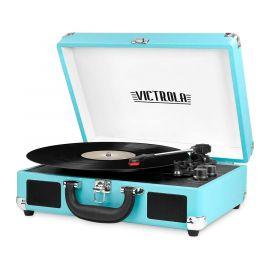 Máy thu âm vali di động Victrola Vintage Bluetooth 3 tốc độ tích hợp Loa | Nâng cấp âm thanh bàn xoay | Bao gồm thêm bút stylus