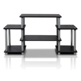 Kệ TV Furinno Turn-N-Tube No Tools Entertainment TV Stands, Black/Grey